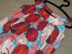 Robe de soie imprimée