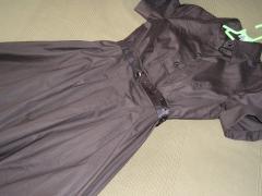 robe de coton brun