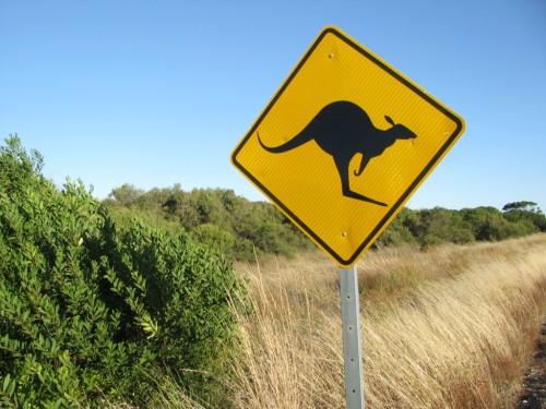 Australia - road sign